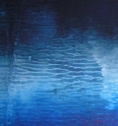 A blue, ultramarine and sapphire painting. modern contemporary art