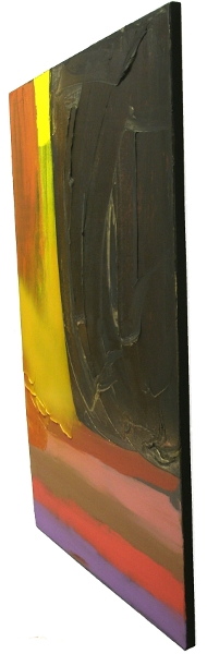 A black, gold and yellow painting. modern contemporary art
