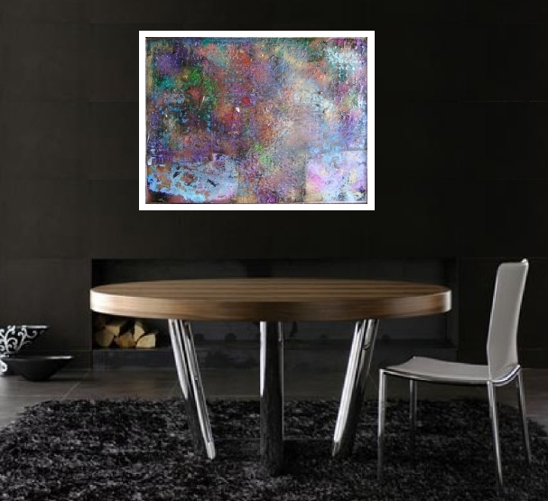 An auburn, amber and mauve painting. abstract modern paintings