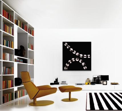A black wall sculpture. modern paintings