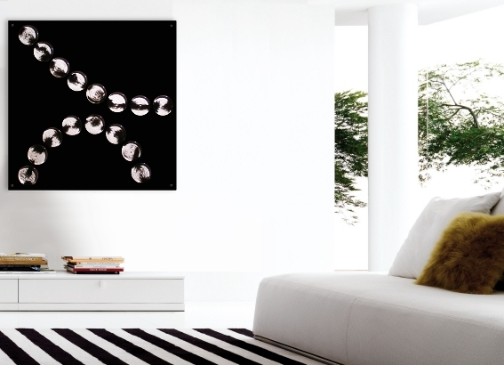 A black wall sculpture. abstract painting for sale