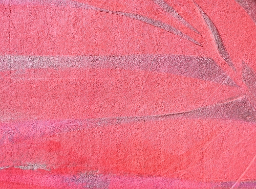 A gold, red and pink painting. abstract color painting