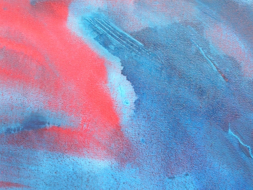 A red and blue painting. modern art for sale