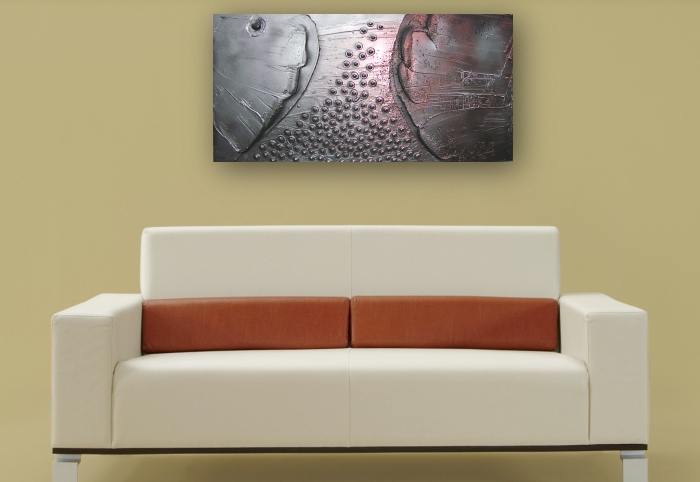 A platinum, silver and copper painting. buy fine art