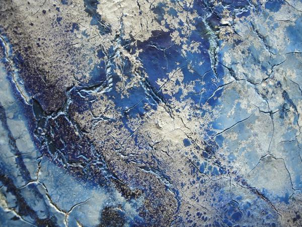 A blue painting. modern contemporary art