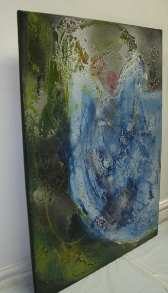 A blue painting. abstract art for sale