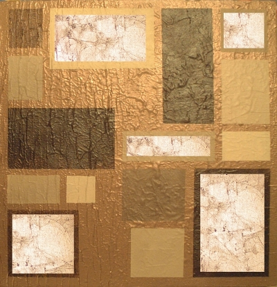 A beige, bronze, brown, chocolate, cream, gold and coffee painting